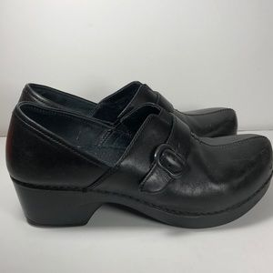 Dansko black clog sz. 38 leather